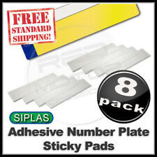 SIPLAS SIGNAM HEAVY DUTY Adhesive Sticky Pads Car Number Plate 8 Pack - FREE P&P