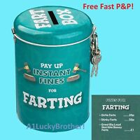 Gift Instant Fine Pay Up Unique Men Mum Tin Farting Child Penalty Money Box Save