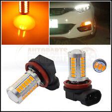 2 × Yellow Amber High Power H11 H8 33SMD LED Bulbs For Car truck Fog Lights