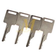 4 Cut Ignition Keys For Case 1838 1840 1835B 1835C 1845B 184 Skid Steer Loader
