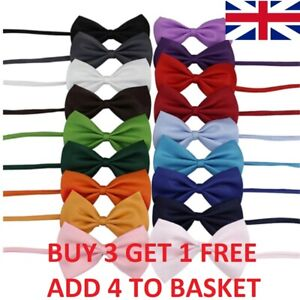 Dog Cat Accessories Bow Tie Adjustable Necktie Collar Bowtie Puppy Kitten UK