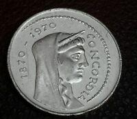 1970 1000 Lira silver Concordia Centennial of Rome as Capital of Italy
