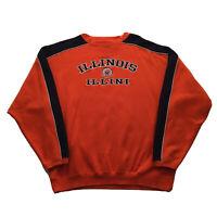 VTG 90s University Of Illinois Sweatshirt Mens XL Illini Orange Pullover College