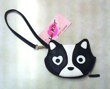 NWT Betsey Johnson Luv Betsey Glimmer Cat Coin Purse/Wristlet
