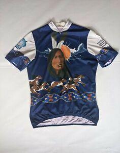 Mens 1998 Tulsa OK Aussie Bicycle Jersey Free Wheel Native Short Sleeved Zip XXL