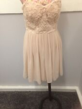 ELISE RYAN NUDE STRAPLESS DRESS  LOVELY DETAIL SIZE 12 NEW WITH TAG