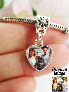 Photo Charm For Bracelet Picture Personalised  Memory Gift Valentines Ladies