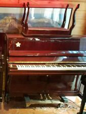 "Sherman Pro Upright Piano 46"" Red Nice Tone Free Move / Tune!"