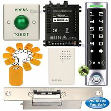 DIY Access Control RFID Home Kit + Electric Strike Door Lock NC Fail Safe