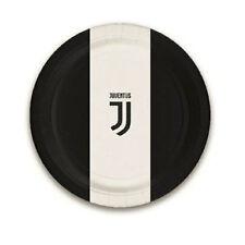 piatti juventus 8 pz 23cm juve bianco nero decorazione tavola squadre calcio