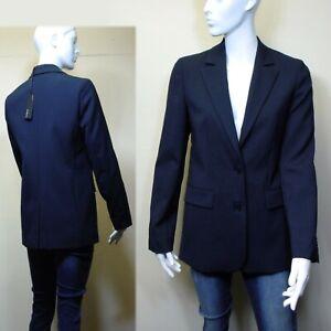 M&S AUTOGRAPH Italian WOOL Blend TAILORED BLAZER Jacket ~ Size 10 ~ NAVY rrp £99