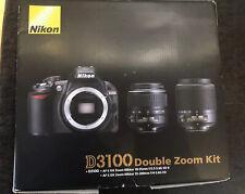 Nikon d3100 fotocamera digitale completa set con DX 18-55mm, 55-200mm obiettiva