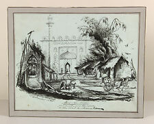 1841 | Herbert EDWARDES | INDIA hero of multan | pen/ink drawing | Meer-Ka-Serai
