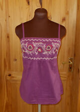 PRINCIPLES purple pink red floral embroidered camisole vest tunic top 12 40