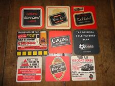 Beer drinks mats drip mats coaster CARLING BLACK LABEL job lot collection