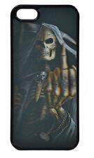 3D Schutzhülle für iPhone 4 Motiv Skelett mit erhobenem Mittelfinger
