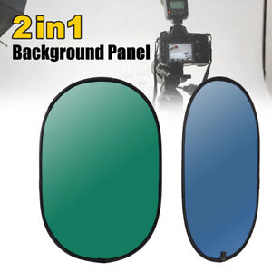 Background Panel Collapsible Backdrop Green/Blue 2In1 Reversible For Photography