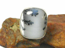 Opal  DENDRITE  Sterling  Silver  925  Gemstone  RING  -  Size: K  -  Gift Boxed