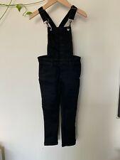 Chi Khi - black denim overalls - size 4-5