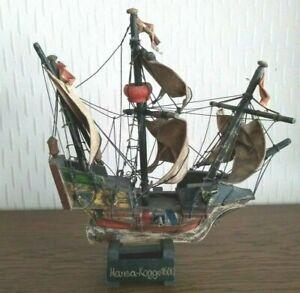 Schiffsmodell Hansa Kogge 1600 Holz Segelschiff Alt Boot Deko Schiff Modell