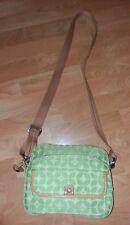 FOSSIL Vintage Light Green Canvas Fabric Organizer Crossbody Messenger Bag