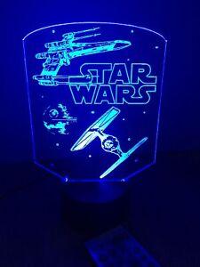 Star Wars Led Neon Light Sign Custom Free Standing Man Cave  Game Room