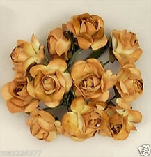 new gold brown Paper Rose Wedding Flowers Favor Decorate 200 flowers  1""