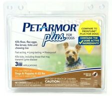 NEW Petarmor plus 3 count for dogs 4-22 lbs flea and tick squeeze on SEALED
