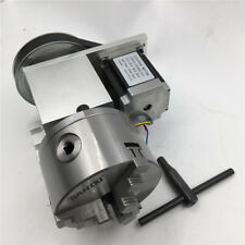 100mm CNC Router Rotary Table Axis 4th Axis K11-100 Hollow Shaft 3 Jaw Chuck