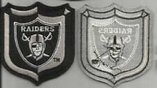 "NEW Oakland Los Angeles Raiders Polo Shirt Size Shield Patch 3"" x 3"" Embroidered"