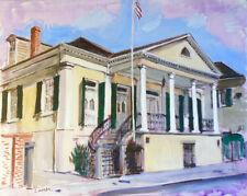 """TIM LAUER, ART, Beauregard House, New Orleans, acrylic, 16"""" x 20"""""""
