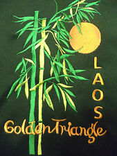 LAOS GOLDEN TRIANGLE t shirt sz S/M**FITS MED *** southeast asia NWOT bamboo