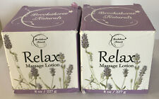 2 Pack- Relax Therapeutic Massage Lotion, Lavender & Peppermint Essential Oils