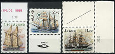 Aland Islands 1988 SG#32-4 Sailing Ships MNH Set #A83911