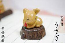 Rabbit Usagi Bunchin Japanese Nanbu cast iron paper weight ornament made  japan