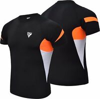 RDX Short Sleeve Rash Guard MMA BJJ Shirt Gym Training Swimming Compression US