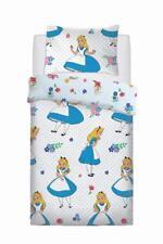 Disney Alice in Wonderland Single Duvet Quilt Cover Set Girls Kids White Bed