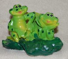 Frog Lilly Pad Lovers Figurine Mib Toad Swamp Country Pond Sweetheart