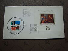 ROUMANIE enveloppe 5/5/73 -Timbre Yvert et Tellier bloc n°105 (cy2)