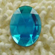 20 pieces acrylic Flatback Rhinestone Faceted oval Gems 40x30mm No Hole  ZH105