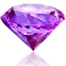 100mm Purple Crystal Diamond Shape Paperweight Glass Gem Display Ornament Gift