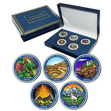 2012 Colorized US Mint National Park Quarters Set in Gift Box