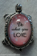 Qqh do what you love Lucky Turtle Figurine zinc Inspirational Life Message Ganz