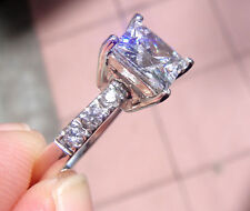 jem: 7mm x 7mm PRINCESS CUT DIAMOND ENGAGEMENT / RIGHT HAND RING