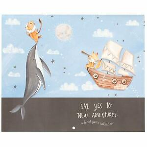 C.R. Gibson ''Say Yes to New Adventure'' Nautical Baby's First Year Calendar NWT