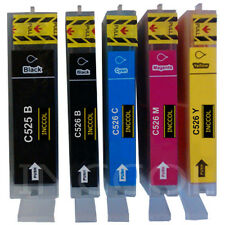 5 Compatible replacements for Canon PGI-525 / CLI-526 printer ink cartridges.