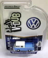 Greenlight 1/64 Scale - 1968 Volkswagen T2 Crew Cab Blue White Diecast model car