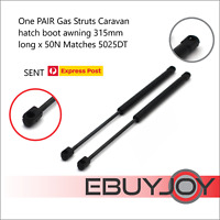 One PAIR Gas Struts Caravan hatch boot awning 315mm long x 50N Matches 5025DT