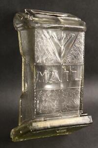 RARE! Unique Antique Visible Glass Mailbox, Sliding Glass Bottom NO RESERVE!