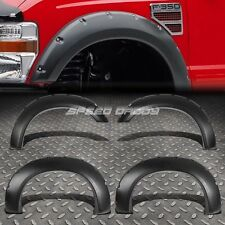 POCKET RIVETED ABS SIDE WHEEL FENDER FLARES FOR 11-16 FORD F250/F350 SUPERDUTY